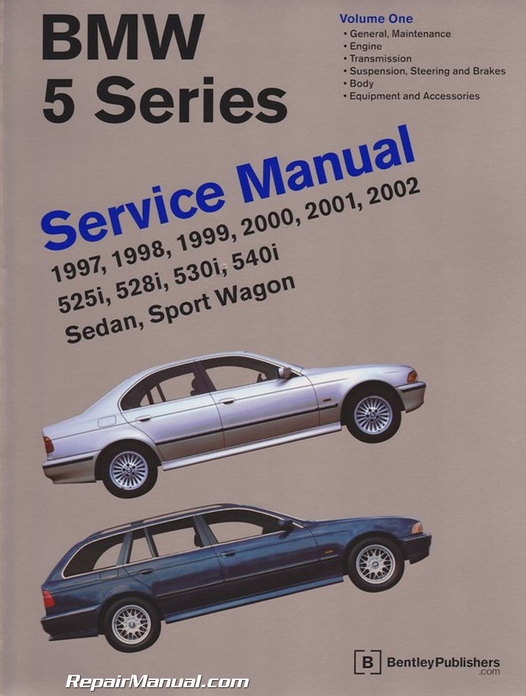 1997-2002 BMW 5-Series E39 525i, 528i, 530i, 540i Sedan, Sport Wagon Service  Manual