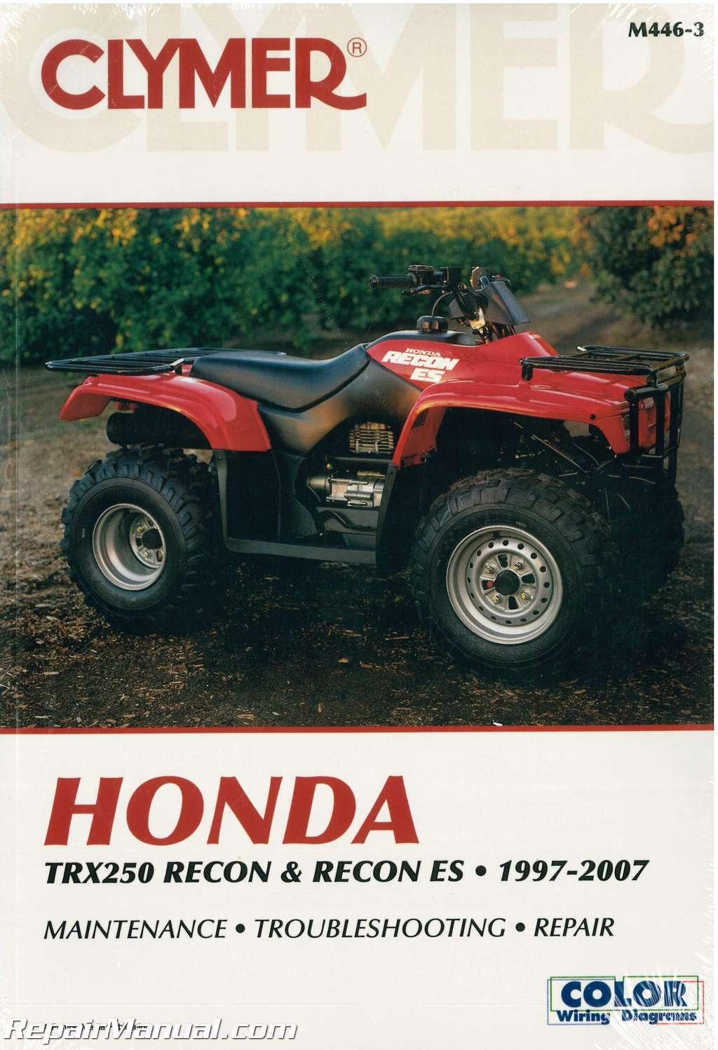 Honda Recon For Sale >> 1997-2007 Honda TRX250 Recon ES ATV Repair Manual by Clymer