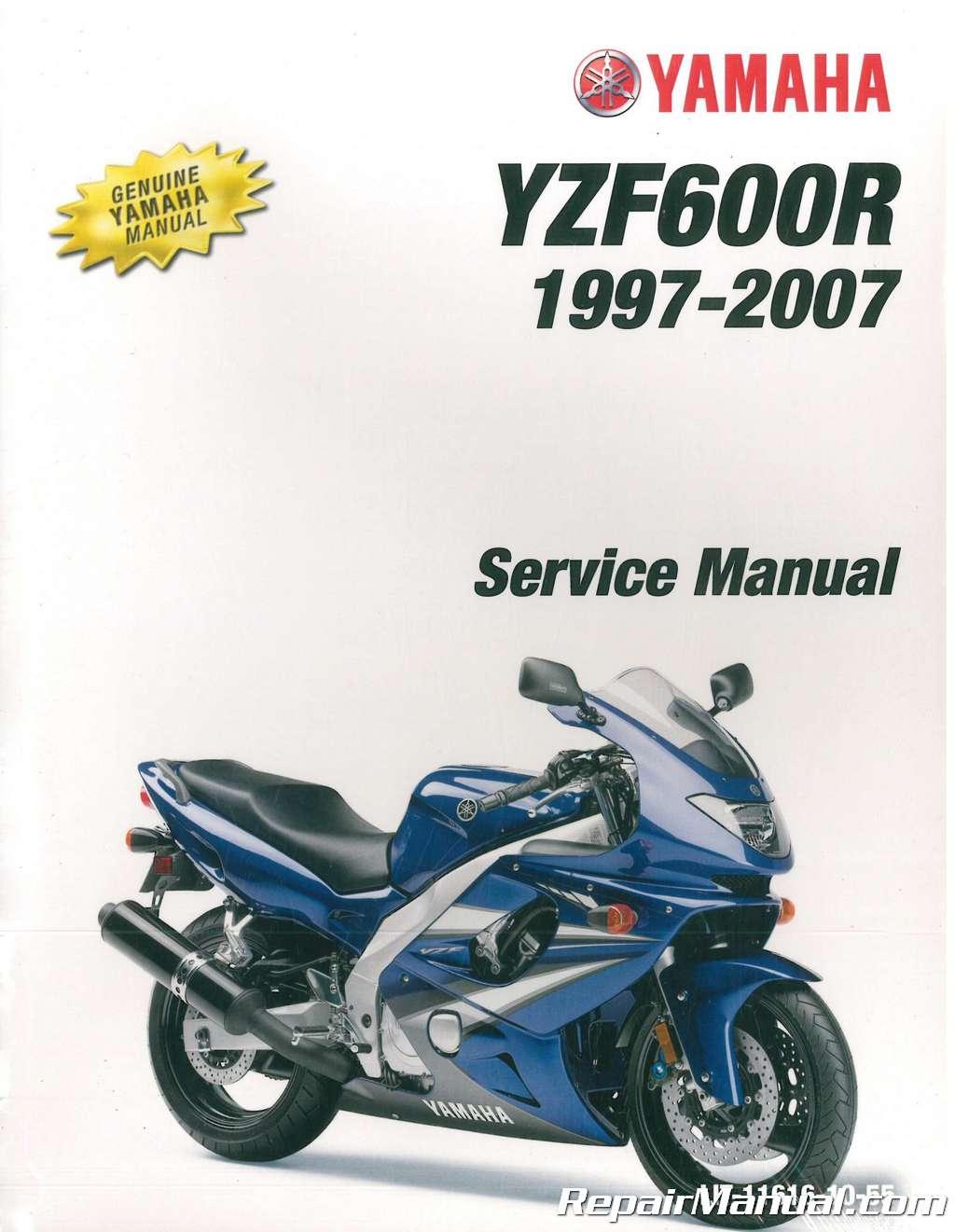 1997 2007 yamaha yzf600r service manual rh repairmanual com Yamaha R1 Yamaha  Yxz1000r