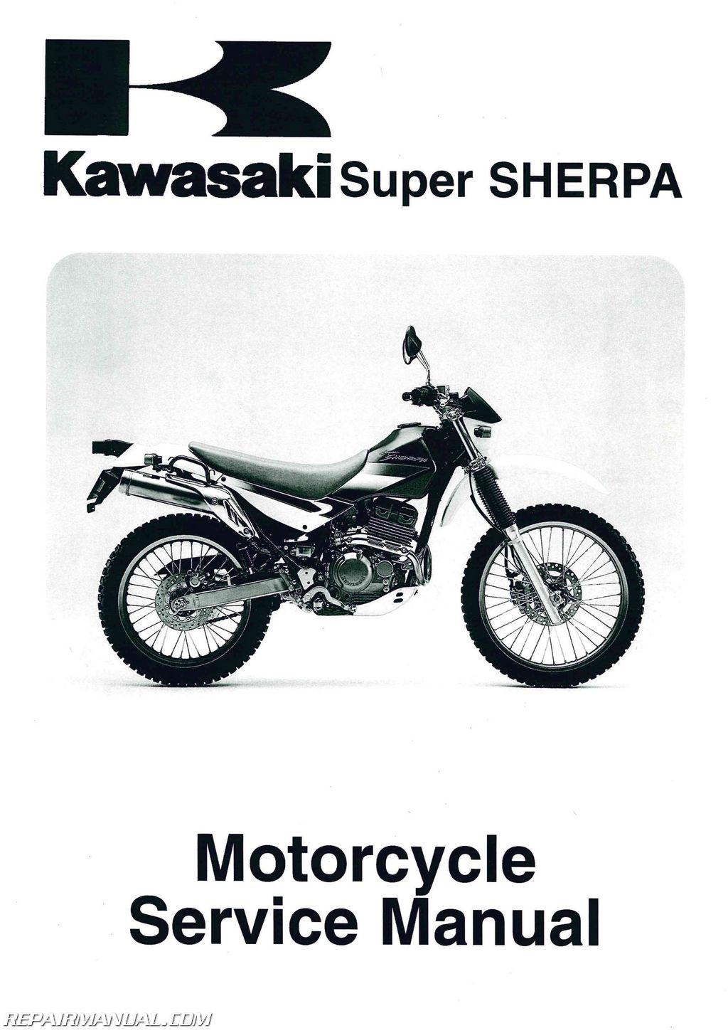1997 2010 kawasaki kl250g super sherpa motorcycle service manual rh repairmanual com kawasaki super sherpa service manual kl250 super sherpa manual