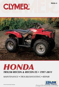1997 2011 Honda Trx250 Recon Es Atv Repair Manual By Clymer