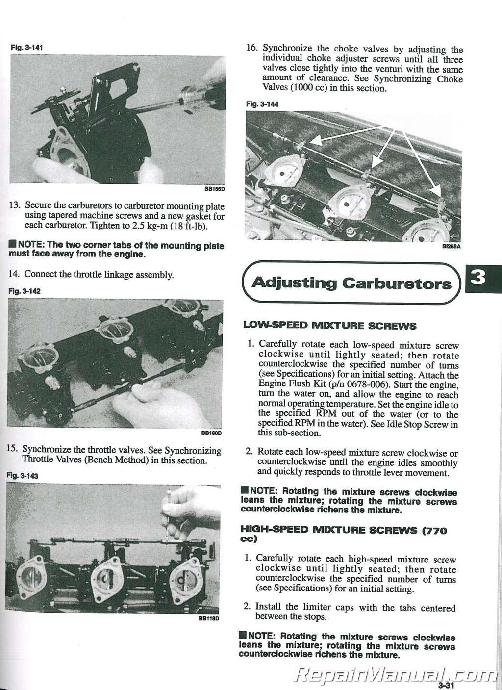 1997 Tigershark Daytona 770 1000 Service Manual. Manual For 900cc Tigershark  Jet Ski ...