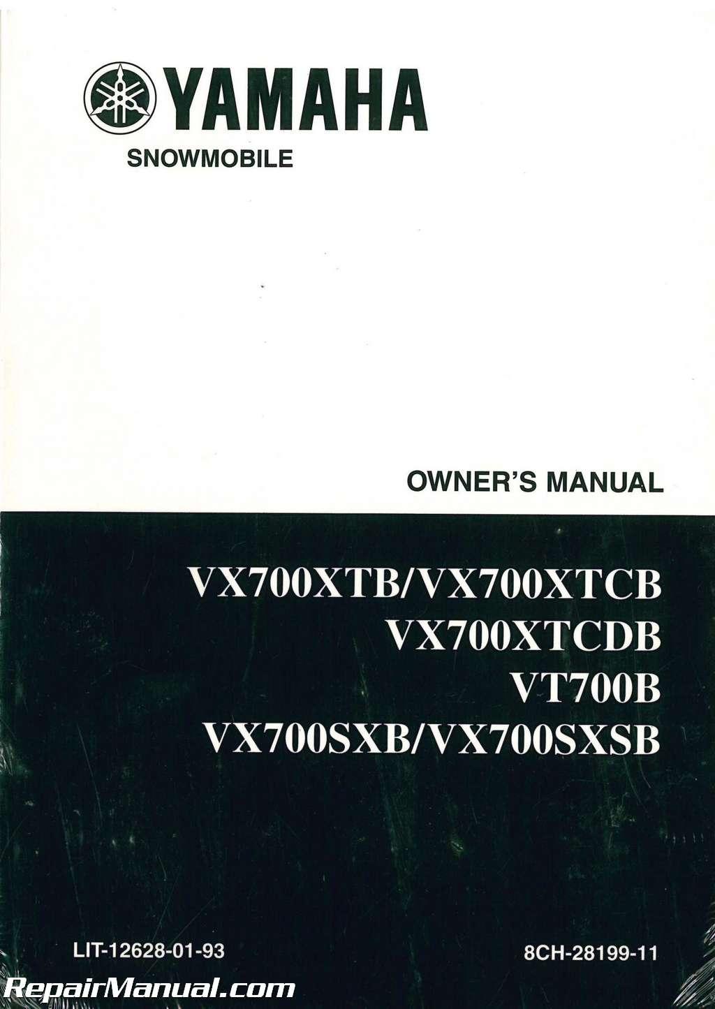 1997 yamaha vx700 vt700 snowmobile owners manual. Black Bedroom Furniture Sets. Home Design Ideas