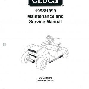 1998-1999 Club Car DS Golf Car Service Manual