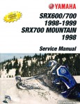 1998-1999 Yamaha SRX600 SRX700 MSRX700 Mountain SRX Snowmobile Service Manual