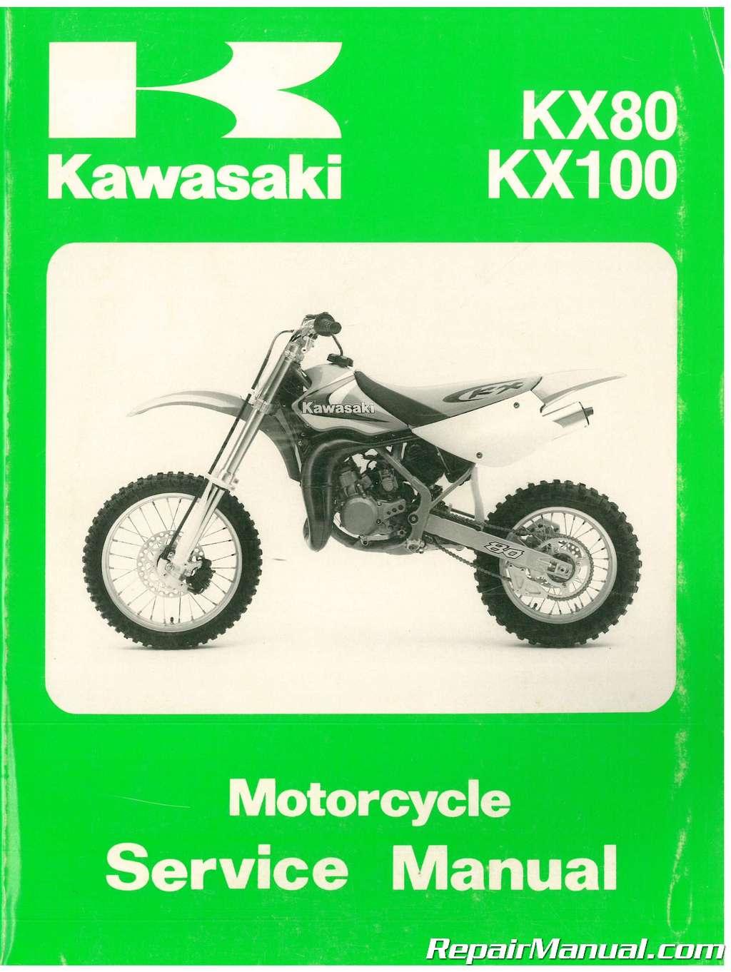 used 1998 2000 kawasaki kx80 kx100 service manual rh repairmanual com  Kawasaki KX 500 Kawasaki KX 85