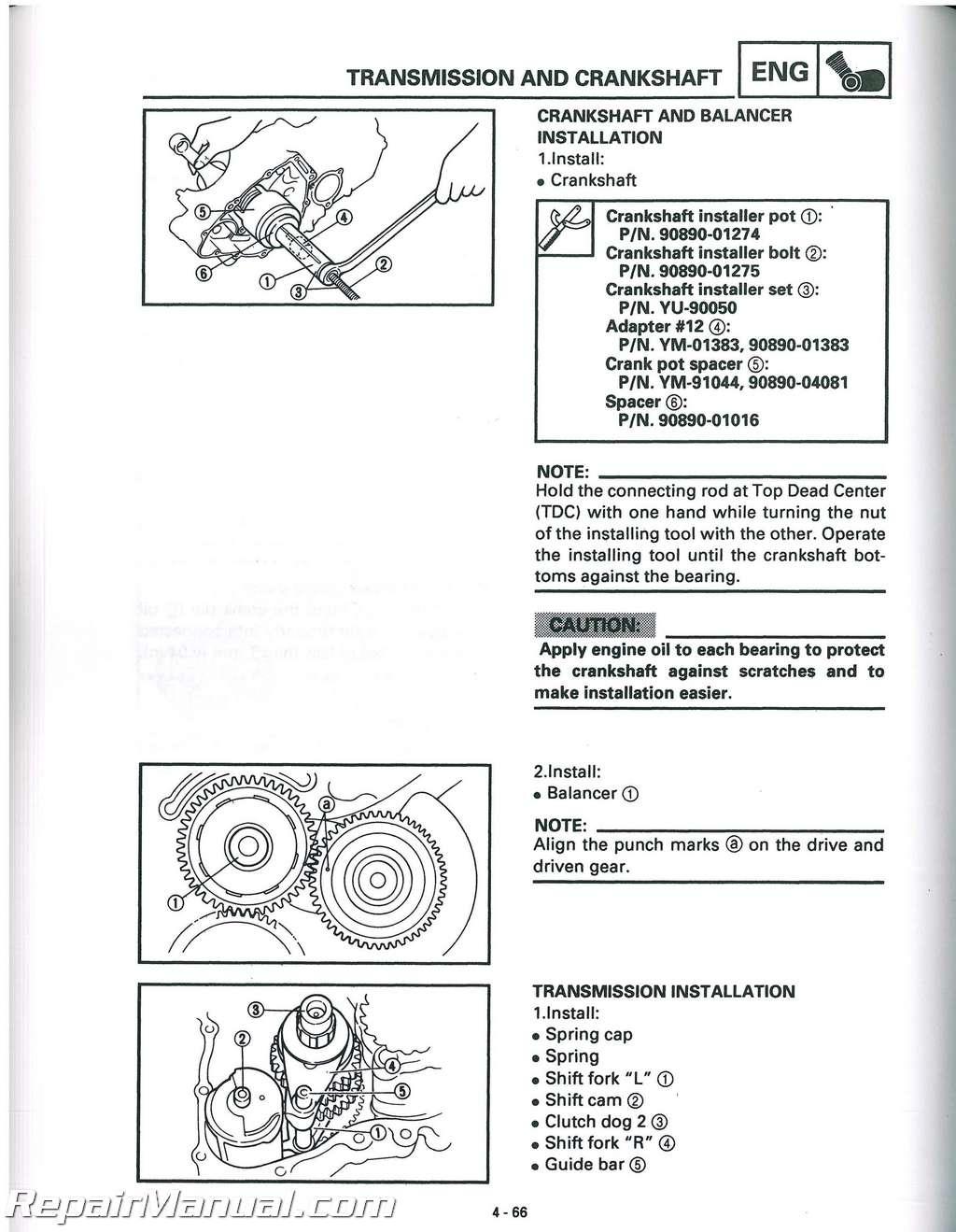 1998 2001 Yamaha Yfm600 Grizzly Atv Service Manual