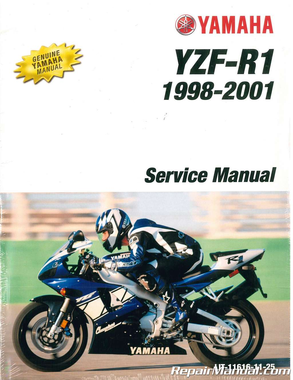 1998 2001 Yamaha Yzf1000r R1 Service Manual border=