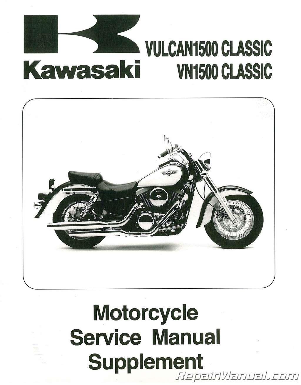 1998 2002 kawasaki vulcan classic 1500 service manual supplement rh repairmanual com kawasaki vn 1500 service manual kawasaki vulcan 1500 nomad service manual