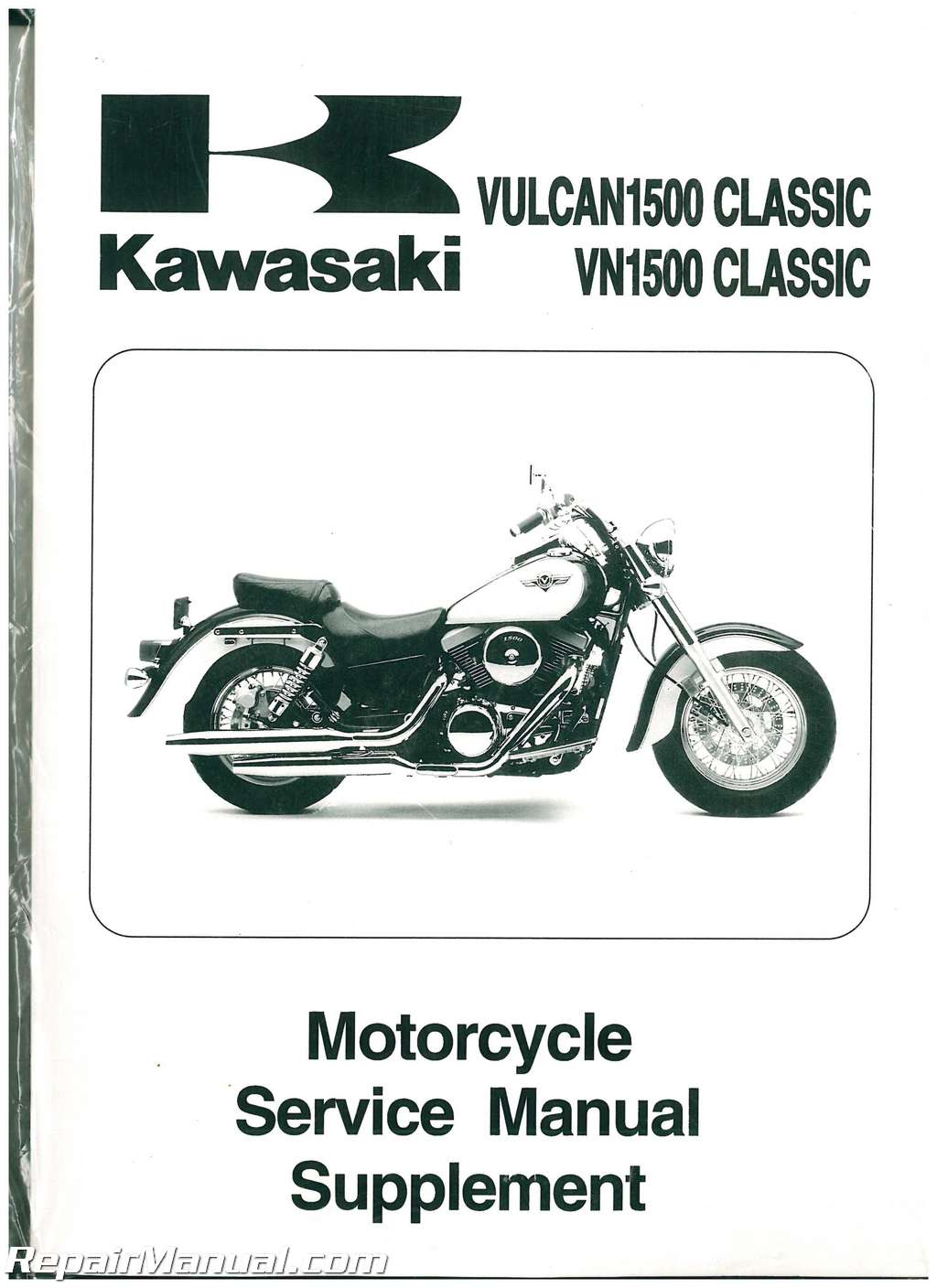 1998-2004 Kawasaki Vulcan Classic 1500 Motorcycle Service Manual Supplement