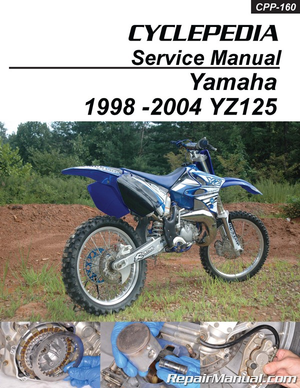 1998 2004 yamaha yz125 cyclepedia printed motorcycle service manual rh repairmanual com yamaha yz 125 owners manual 125Yz Yellow