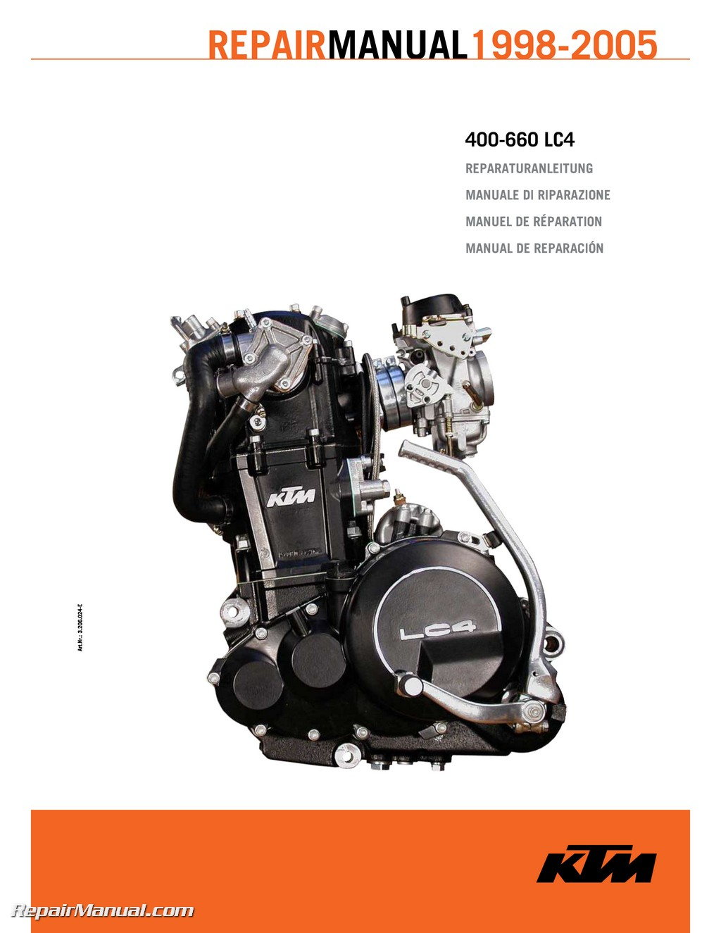 1998 2005 ktm 400 660 lc4 paper engine repair manual rh repairmanual com ktm lc4 2002 manual ktm lc4 manual pdf