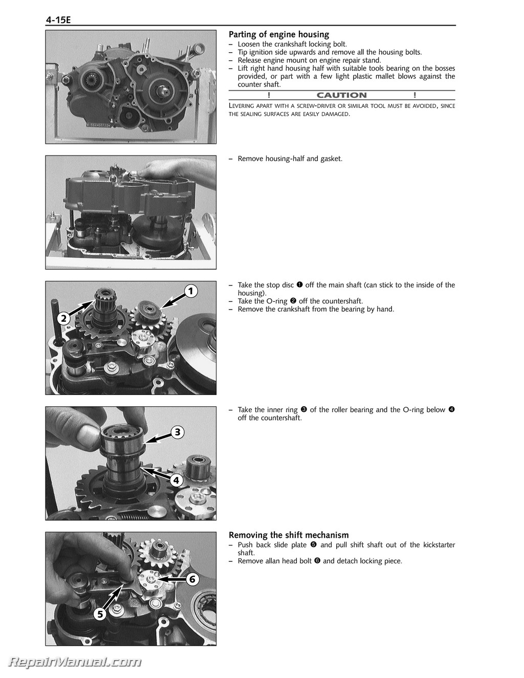 1998 2005 ktm 400 660 lc4 paper engine repair manual rh repairmanual com ktm lc4 620 manual ktm lc4 manual pdf