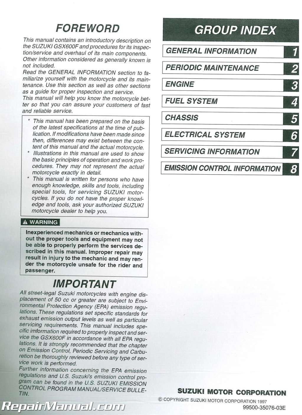Suzuki Katana  Service Manual