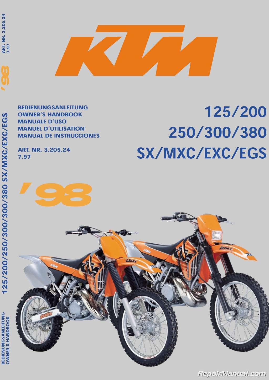 1998-KTM-125-200-250-300-380-SX- ...