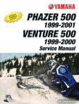 1999-2001 Yamaha Snowmobile Service Manual PZ500 Phazer VT500XL Venture 500 XL