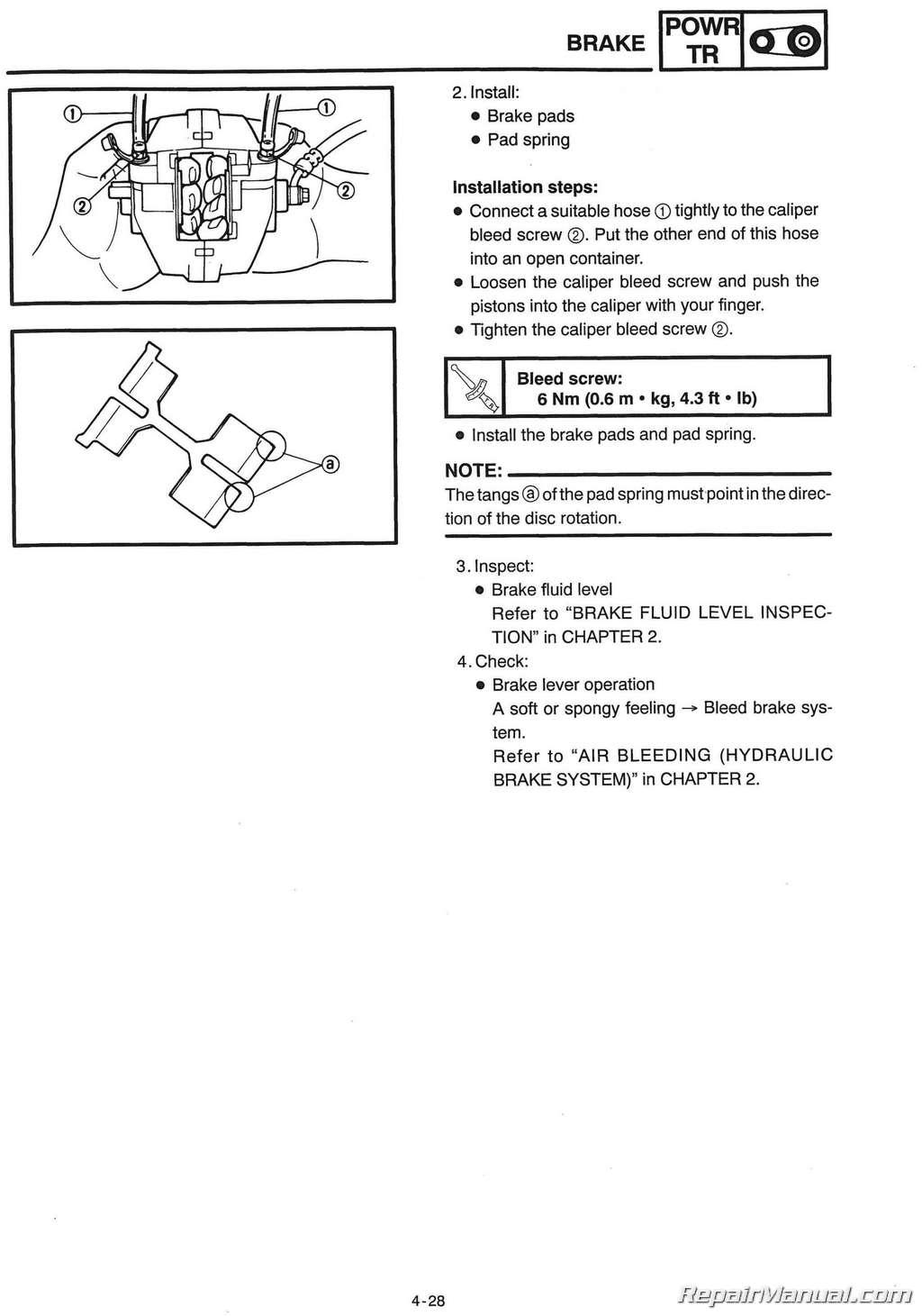 2000 Yamaha Phazer Wiring Diagram Start Building A 2001 Raptor 660 1999 Snowmobile Service Manual Pz500 Vt500xl Rh Repairmanual Com Big Bear 350 Tach