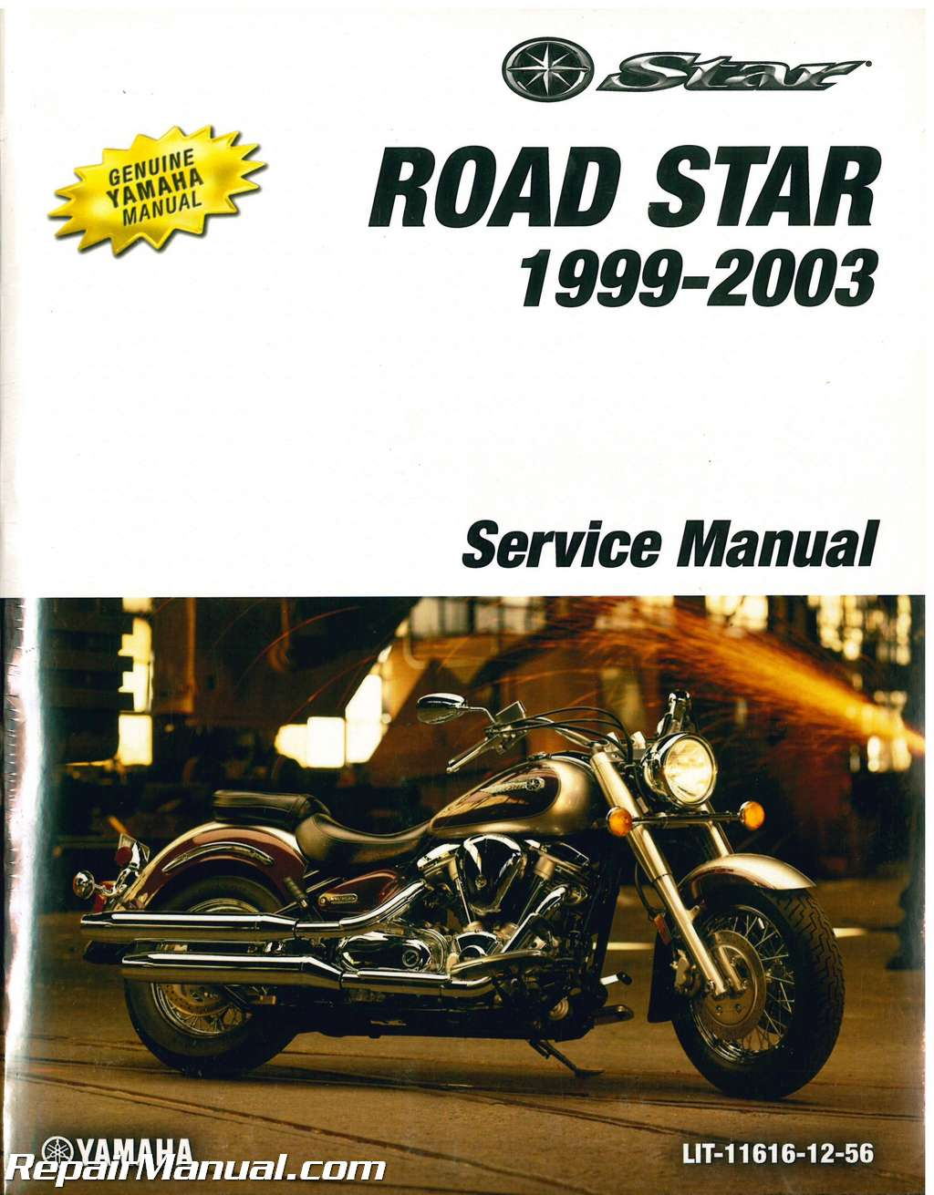 1999 2003 yamaha road star xv1600 motorcycle service manual rh repairmanual com 2002 Yamaha Road Star yamaha roadstar 1600 owners manual