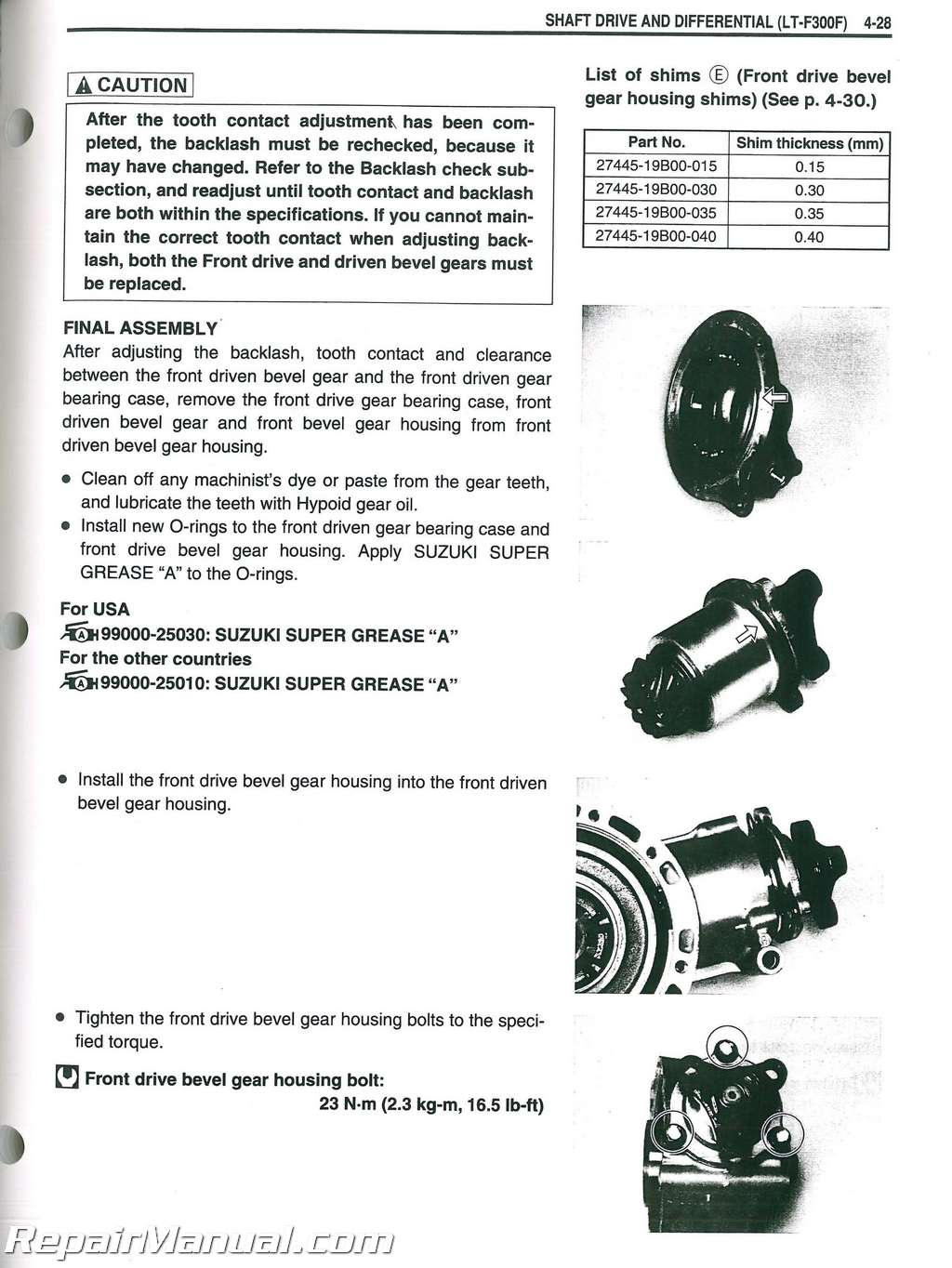 suzuki king quad ltf300 1999 2004 service repair manual