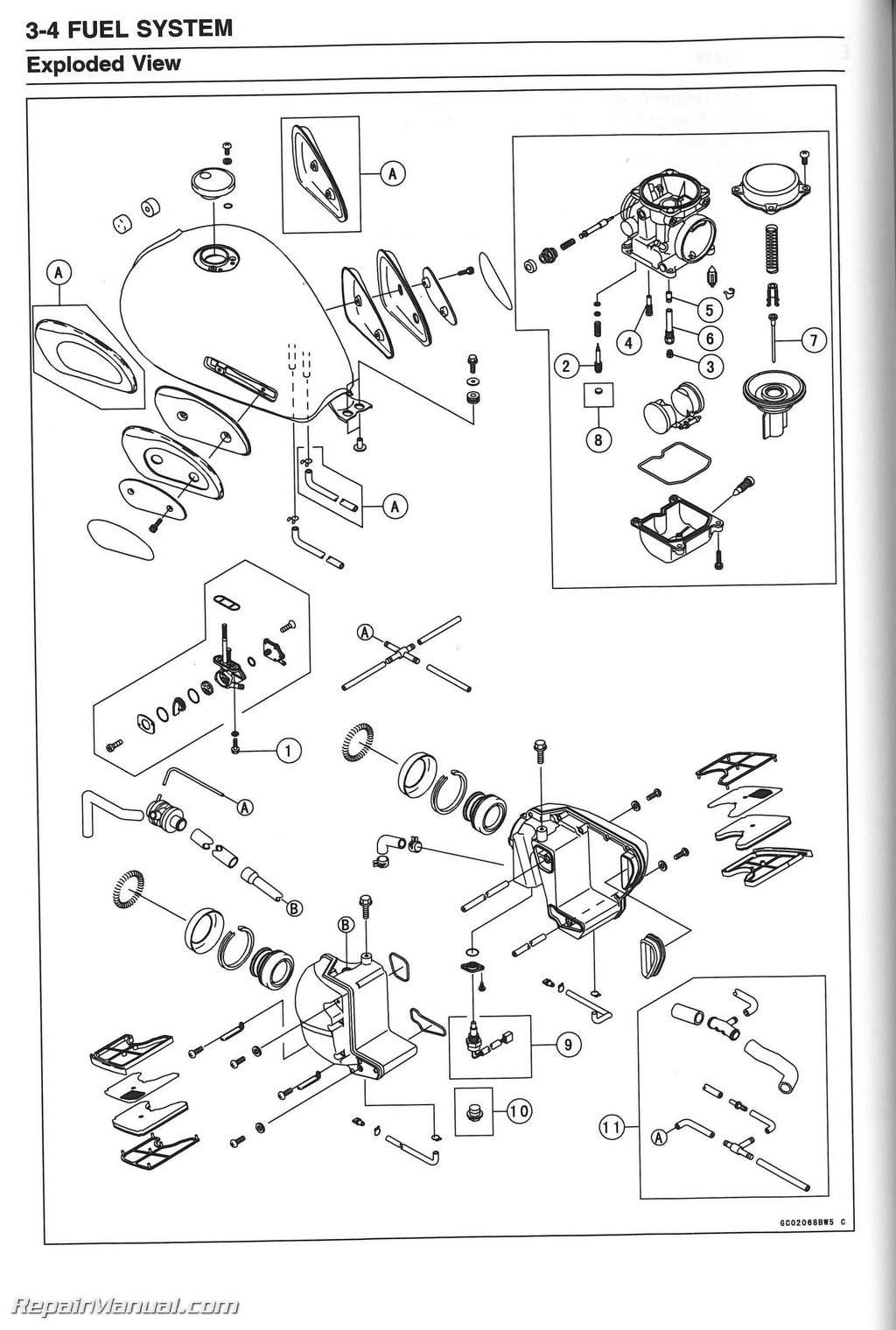kawasaki w650 service manual enthusiast wiring diagrams