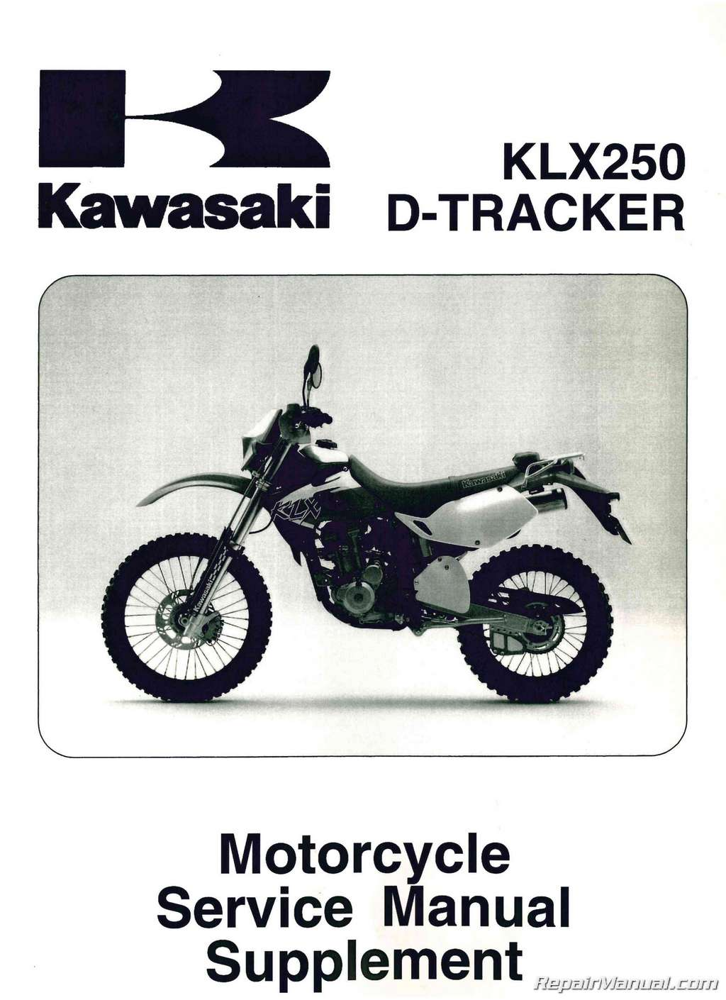 1999 2006 Kawasaki Klx250 Service Manual Supplement