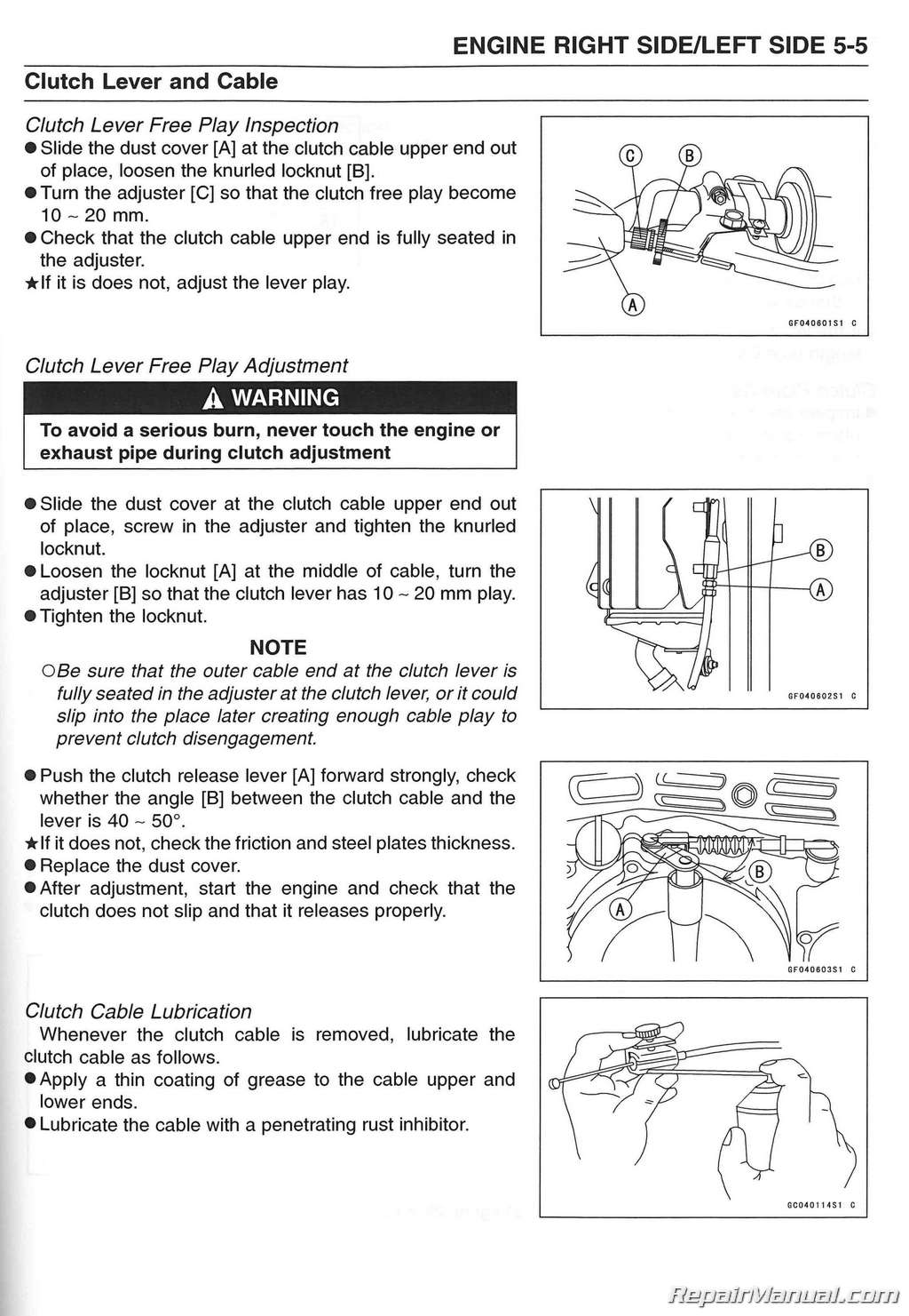 1999 2006 Kawasaki Klx250 Service Manual Supplement 125cc Engine Diagram