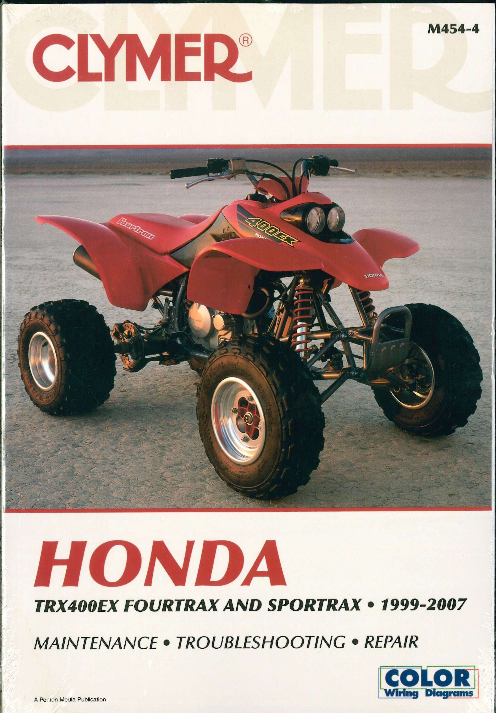 1999-2007 Honda TRX400EX Fourtrax Sportrax ATV Repair Manual ...