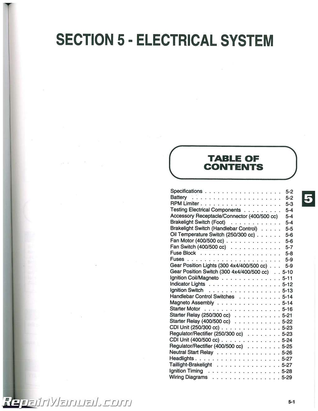 1999 Arctic Cat 400 Owners Manual Today Guide Trends Sample 370 Wiring Diagram 500 4x4 300 2x4 250 2003 Problems