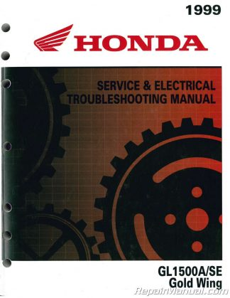 1999 honda gl1500a se gold wing service manual
