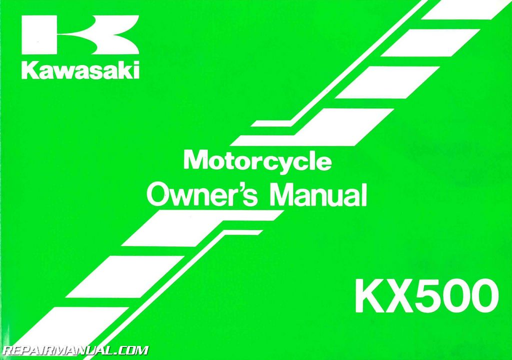 1999 kawasaki kx500 e11 motorcycle owners manual rh repairmanual com saxon motorcycle owners manual suzuki motorcycle owners manual pdf