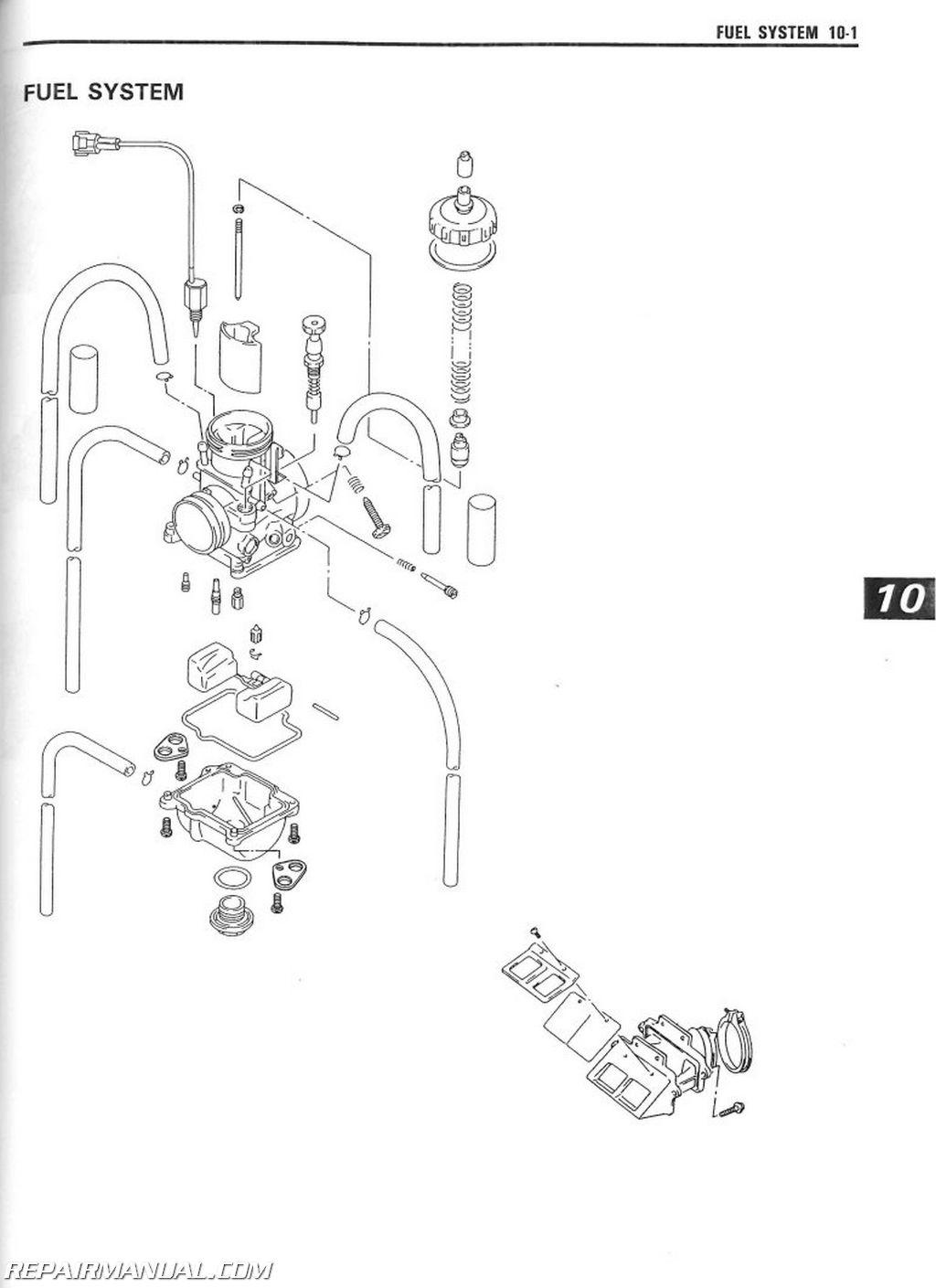 suzuki lt230 and lt250 service repair manual 1985 1990
