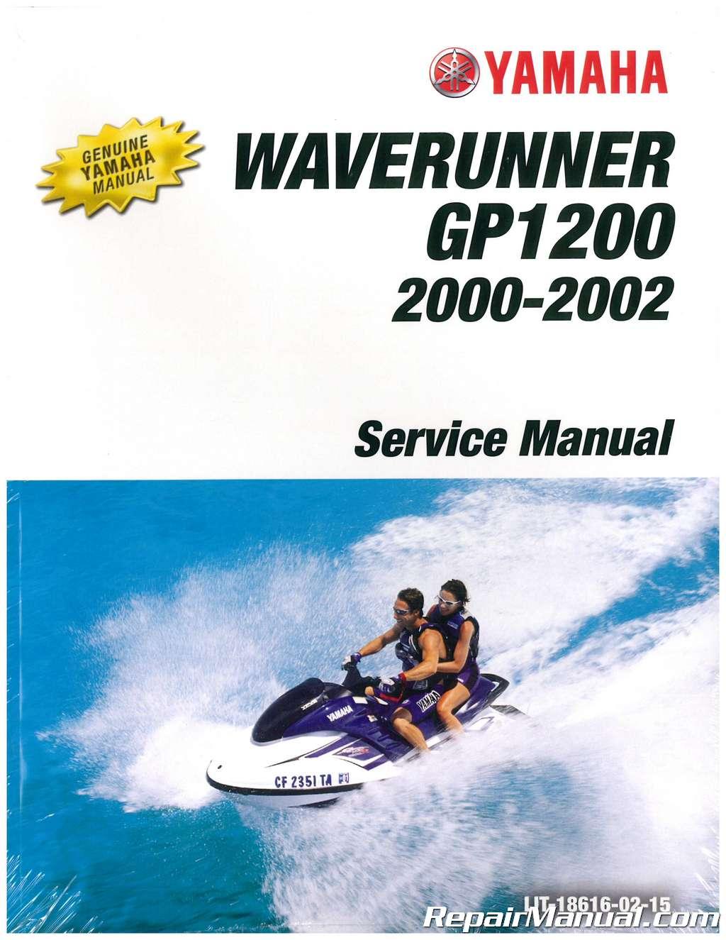 2000 2002 yamaha gp1200r waverunner service manual rh repairmanual com 2001 Yamaha GP 1200R 2002 Yamaha XLT 1200 Specs