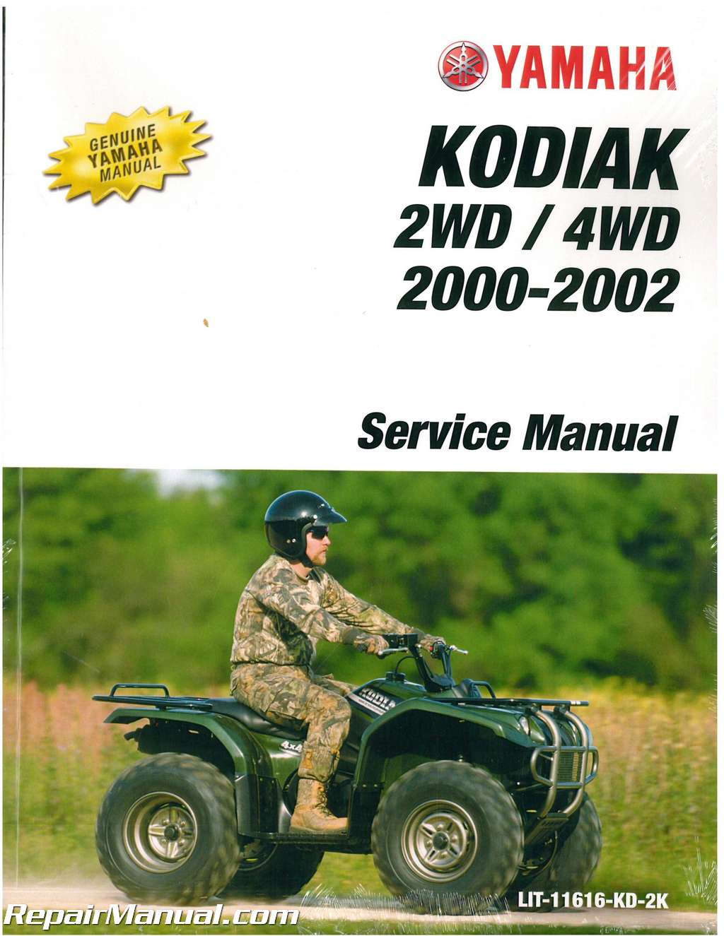 2000 2002 yamaha yfm400 kodiak atv service manual rh repairmanual com Yamaha  Kodiak 400 ManualDownload Yamaha Kodiak Repair Manual