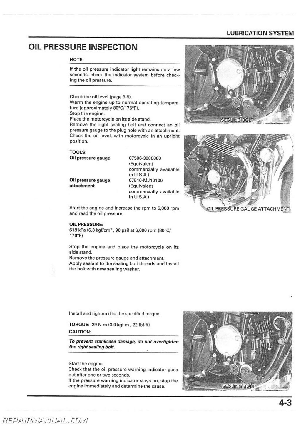 2000 2003 Honda Cb750 Nighthawk Motorcycle Service Manual Engine Repair