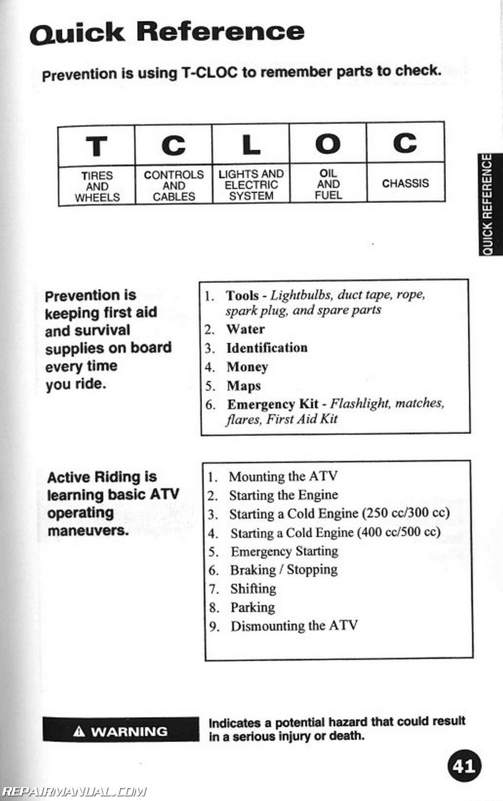 2000 arctic cat atv owners manual rh repairmanual com Arctic Cat 400 Parts Diagram 2001 Arctic Cat 300 Carburetor