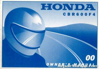 2000 Honda CBR600F4 Motorcycle Owners Manual
