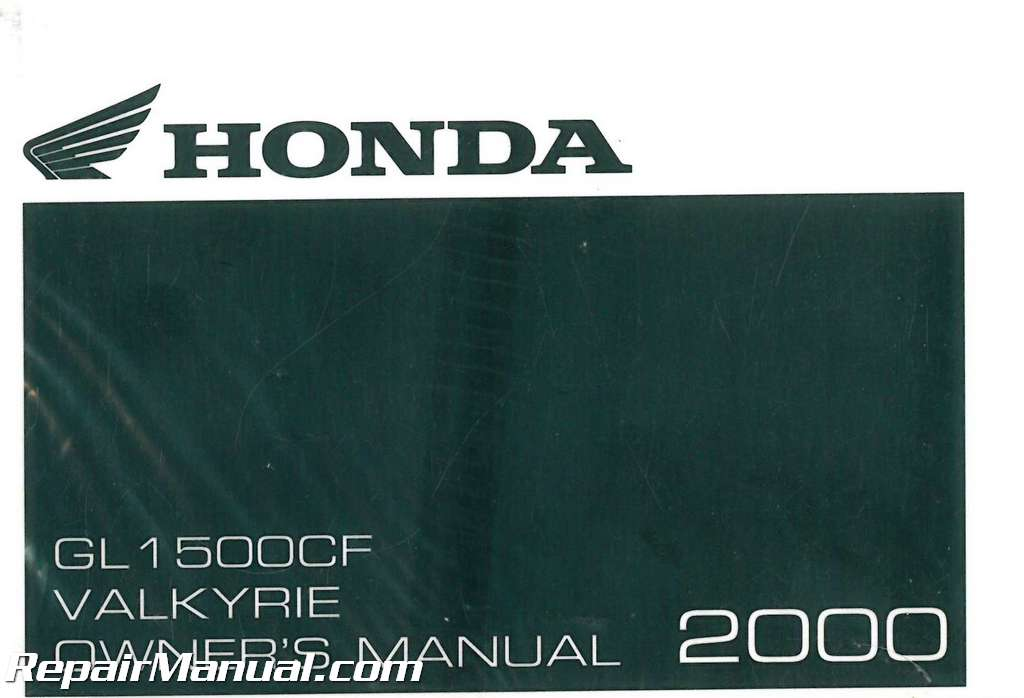 2000 Honda Gl1500cf Valkyrie Interstate Motorcycle Owners