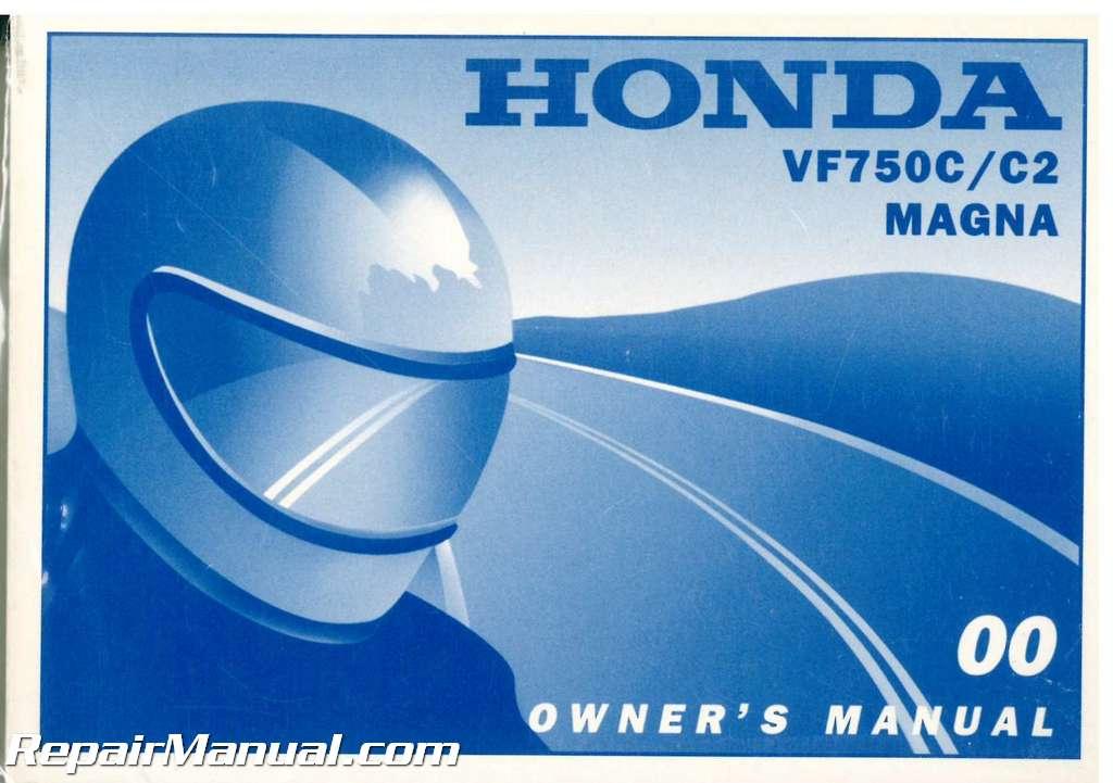 2000 Honda Vf750c C2 Magna Motorcycle Owners Manual