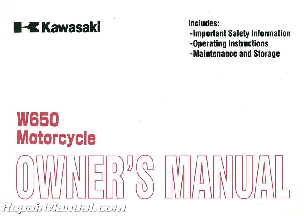2000 kawasaki ej650 w650 motorcycle owners manual 99920 1972 01 ebay rh ebay com saxon motorcycle owners manual suzuki motorcycle owners manual download