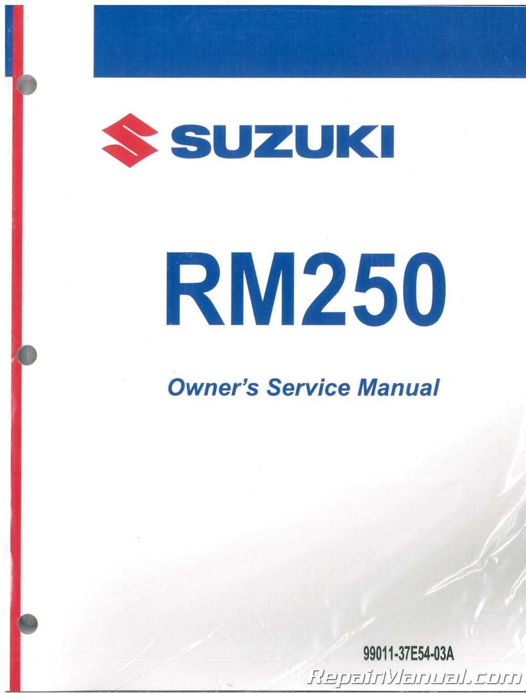2000 suzuki rm250y motorcycle service manual rh repairmanual com 2003 RM 250 2000 rm 250 service manual pdf
