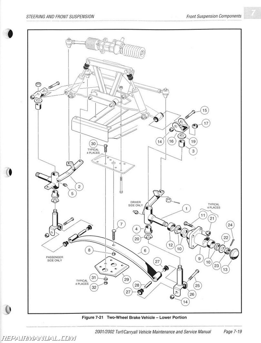 Club Car Carryall Turf  Parts Manual