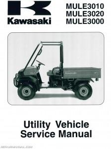 2001-2008 Kawasaki KAF620 Mule 3000 3010 3020 Service Manual