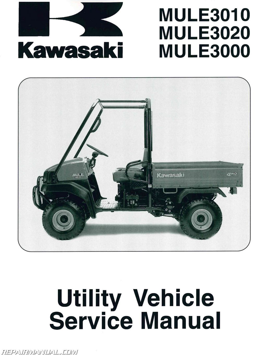 2001 2008 kawasaki kaf620 mule 3000 3010 3020 service. Black Bedroom Furniture Sets. Home Design Ideas