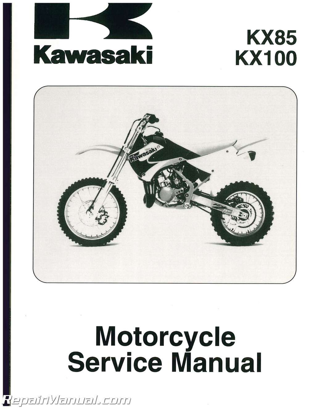 Array - 2001 2008 kawasaki kx85 kx100 motorcycle service manual rh  repairmanual ...