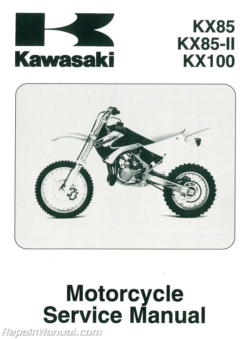 2001 2011 Kawasaki Kx85 Kx100 Motorcycle Service Manual border=
