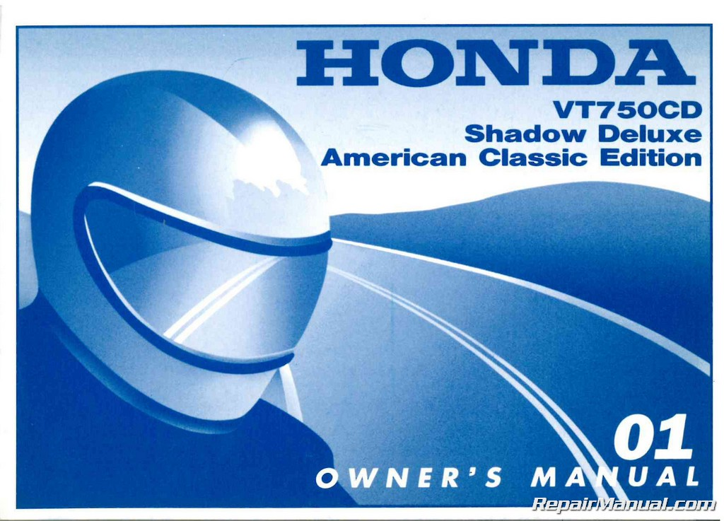 2001 Honda Vt750c Cd Ace Shadow Deluxe Owners Manual 31mba630 Ebay