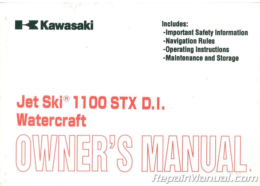 2001 kawasaki jet ski 1100 stx di owners manual 1995 Kawasaki 1100 STX Jet Ski kawasaki jet ski 1100 stx service manual pdf