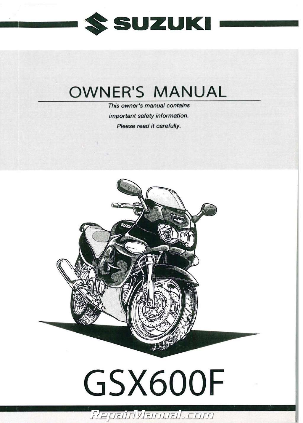 100 suzuki katana service manual gsx750f user. Black Bedroom Furniture Sets. Home Design Ideas