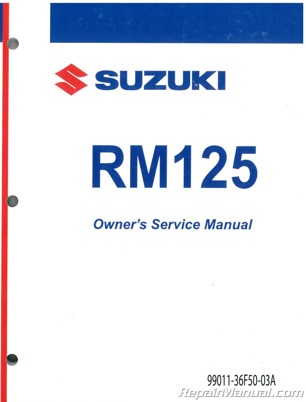 2001 suzuki rm125k1 motorcycle service manual 99011 36f50 03a ebay rh ebay co uk 2006 RM 125 2007 RM 125