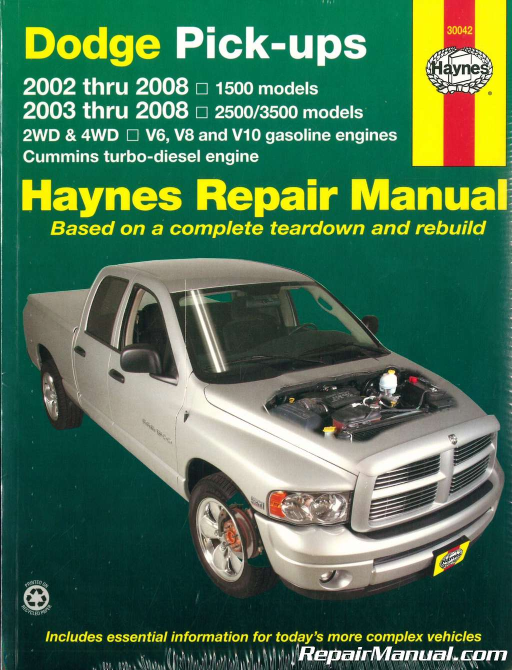 dodge ram repair manual 1500 2500 3500 pickup truck haynes 2002 2008 rh repairmanual com 2002 dodge ram 1500 repair manual pdf 2002 dodge ram 1500 repair manual download